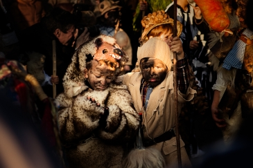 La Vijanera takes place every year in a small town of less than 600 inhabitants. Locals dress up as various characters and dance and parade through the village streets.