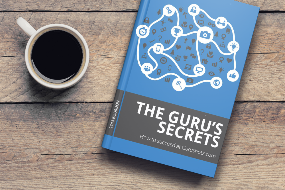 A cup of coffee and Gurushots tips ebook