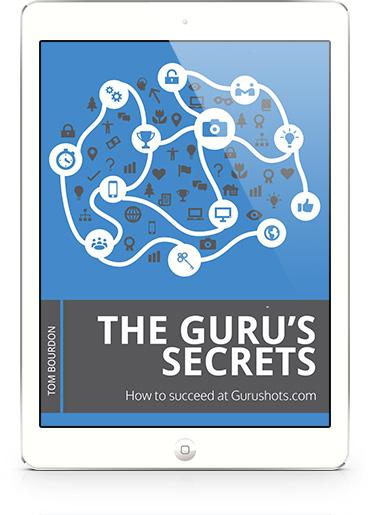 Gurushots tips ebook on an ipad