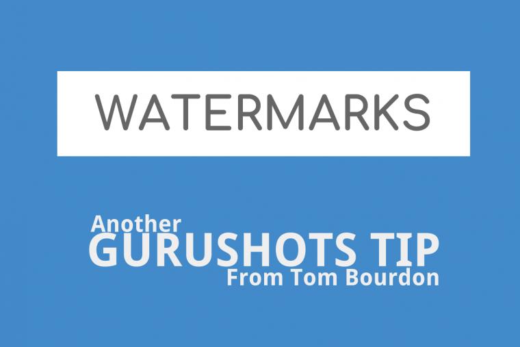 Gurushots tips – Watermarks